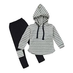 Kehen 2pcs Kids Autumn Outfits Set Stripes Long Sleeve Cotto