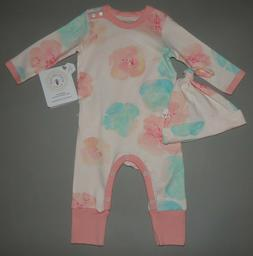 Baby girl clothes, 12 months, Burt's Bees Coverall set/SEE D