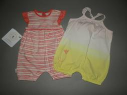 Baby girl clothes, 12 months, Burt's Bees Organic bubble set