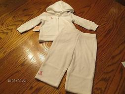 JUICY COUTURE BABY GIRL WHITE TERRY CLOTH JOG SET SIZE 12 MO