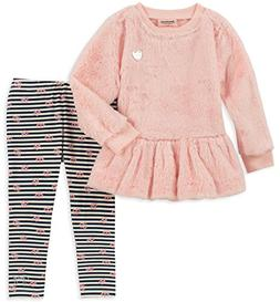 Juicy Couture Baby Girls 2 Pieces Tunic Legging Set -Faux Fu