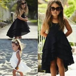 Baby Girls Backless Strappy Solid Color Summer Casual Beach