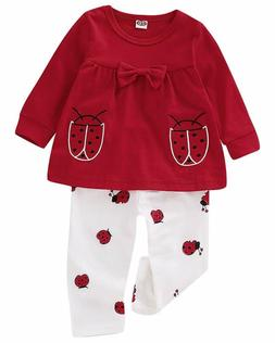 baby girls clothes set 2 piece long