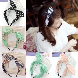 Beauty Women Girls Cloth Fabric Sweet Big Ribbon Bow Non-sli