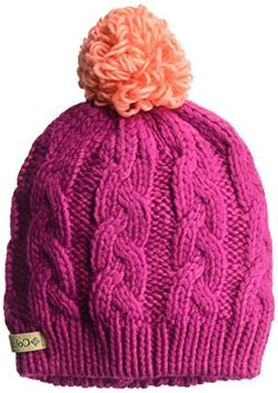 Columbia Big Girls' in-Bounds Beanie, Deep Blush, Hot Coral,