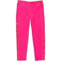 New Balance Big Girls' Performance Crop, Pink and Speed Glit