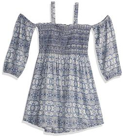 Jessica Simpson Big Girls' Printed Fashion Dress, Eclipse Ti