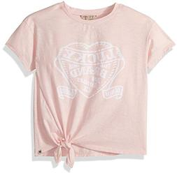 Lucky Brand Big Girls' Graphic Tee, Livia Strawberry Cream,