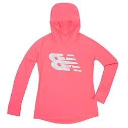 331cb60874b0b New Balance Kids Big Girls' Hooded Performance Tee, Guava/Ma
