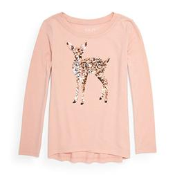 The Children's Place Big Girls' Long Sleeve T-Shirt 2, Rose