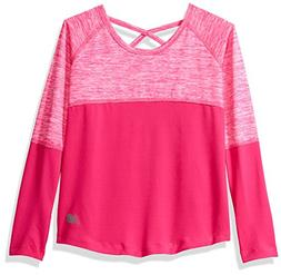 New Balance Girls' Little Long Sleeve Performance Tee, Pink