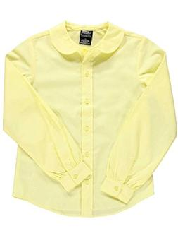 French Toast Big Girls' L/S Peter Pan Blouse - yellow, 16