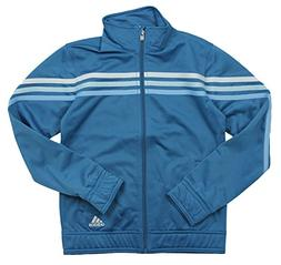 Adidas Big Girls Pursuit Full Zip Striped Jacket , Teal)