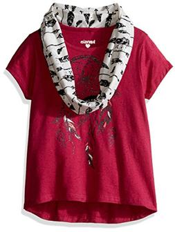 kensie Girls' Big Speckle Rayon T-Shirt and Sweater Knit Inf