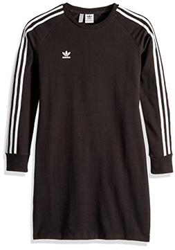 adidas Originals Girls' Little Trefoil Dress, Black/White S