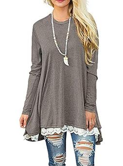 Blouses for Women Long Sleeve T Shirt Tunic Ladies Tops Swea