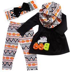 Boutique Clothing Girls Fall Halloween Boo Ghost Aztec Outfi