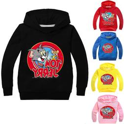 Boys Girls Tom and Jerry Kids Spring Autumn Shirt Clothing H