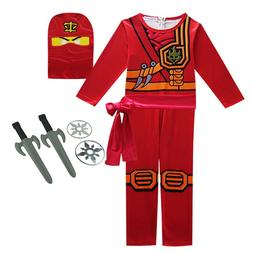 Boys Ninja Ninjago Cosplay Costumes Children <font><b>Clothi