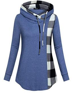 Lotusmile Casual Sweatshirts for Women with Pockets,Long Sle