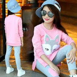 Children Clothing Girls Sets Long Sleeve Tracksuit For Girls