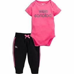 068f7eb8735d9 New Balance Childrens Apparel Baby Girls Bodysuit and Jogger