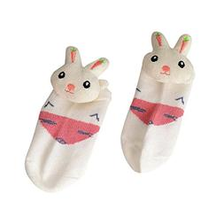 SMALLE ◕‿◕ Clearance,Cotton Short Eyes Rabbit Socks St