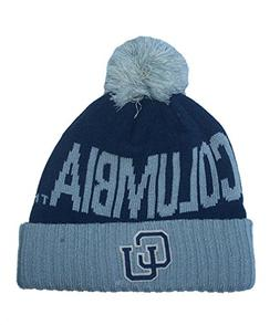 Adidas Columbia Athletics Cuff Knit Beanie w/ Pom NCAA Authe