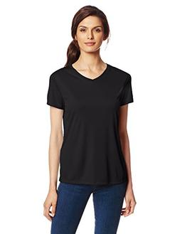 Hanes Sport Women's Cool DRI Performance V-Neck Tee,Black,3X