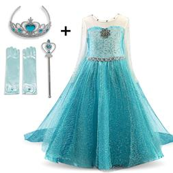 Cosplay Queen Elsa Dresses Elsa Elza Costumes Princess Anna