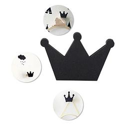 Crown Wall Hook,Wall Hanger Clothes Organizer for Coat Hat C