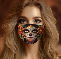 Day of the Dead Girl Cloth Face Mask
