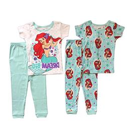 AME Disney The Little Mermaid Toddler Girls 4 Pc Cotton Paja