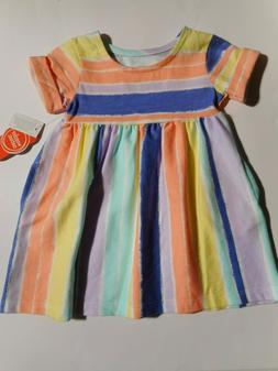 Dresses Baby Girls Rainbow Colors Dress Clothes Outfits Wond
