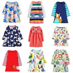 Dresses Girls Clothing 100% Cotton Long Sleeve Baby Princess