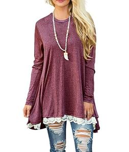 Dressy Blouses for Women Tunic Formal Tops Work Winter Long