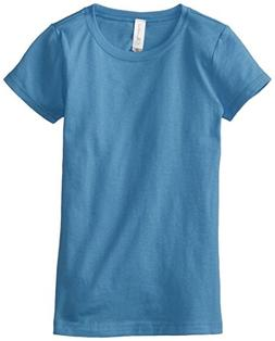 Clementine Big Girls' Everyday T-Shirt, Turquoise, X-Large