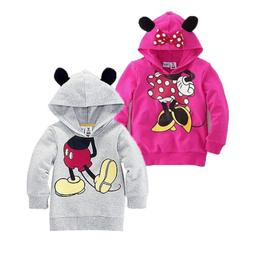 fashion Baby Girl Boy Long Sleeve Ear  Costume Hoodie Sweats