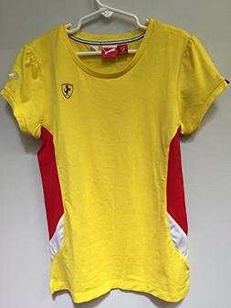 Puma Ferrari Girl's T-Shirt Yellow