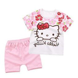FLASH SALE OFFER !!!!!! 2019 Summer Hello Kitty Baby Girl Cl