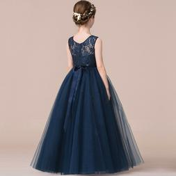 Flower Girl Princess Lace Bridesmaid Wedding Dress Gown Chil