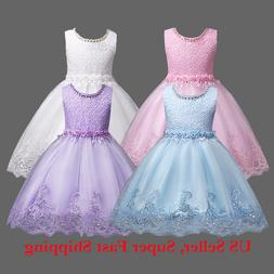 5bc6124e628 Flower Girls Princess Dress Kids Baby Pa... By Unbranded. USD  7.08. DH Flower  Girl s Floral-Embroidered Pearl Embellished Evenin