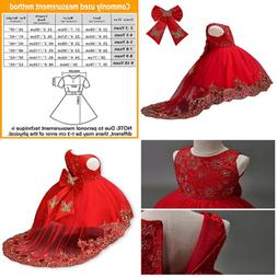 21KIDS Flower Girls Sequin Lace Tulle Dress Kids Wedding Pri