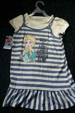 Frozen Girls Kids Clothing Size 4/5 & 6/6X Disney New With T