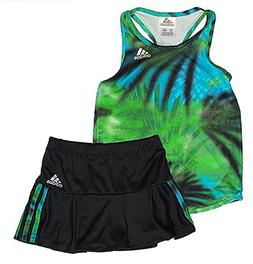 Adidas Girl's Athletic 2 Piece Top and Skort Sets Various Co
