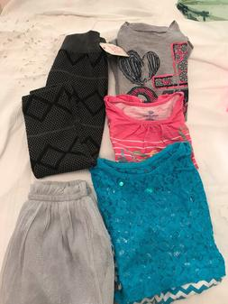 Girl's Lot of 5 Misc Brands,  Pant, Skirt &  Tops, Size 6