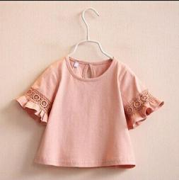 Girl's T-shirts Tops Tees Children Clothing 3-7 Years