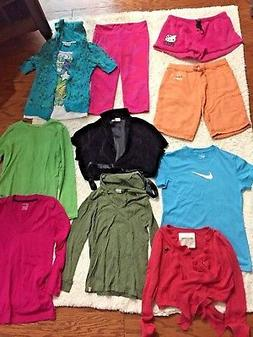 girls 10 piece clothing lot sz L Abercrombie- Nike- Active-