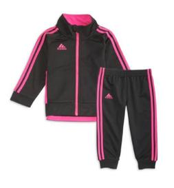 adidas Girls' 2-Pc. Tricot Jacket & Jogger Pants Set,