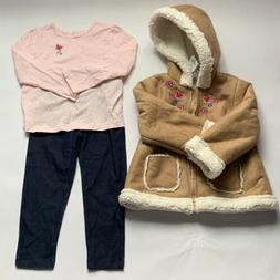 girls 3 piece jacket top pant outfit